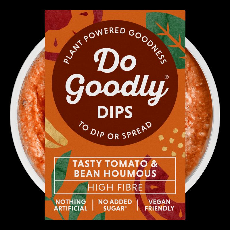 Tasty Tomato & Bean Houmous dip top down view